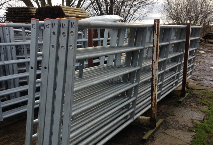 Bar galvanised steel farm gates